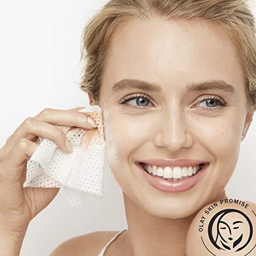 Olay Daily Facials Toallitas diarias limpias, paños 4 en 1 activados por agua, 66 unidades de embalaje puede variar.