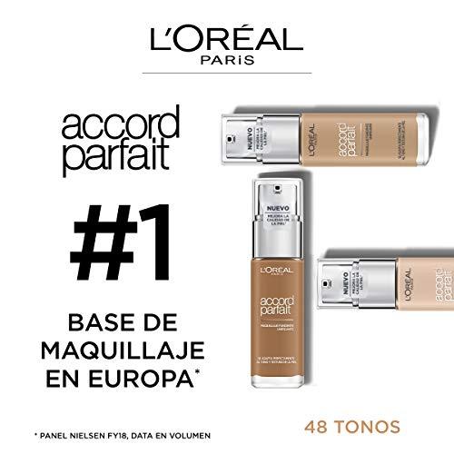 L'Oréal Paris Accord Perfect Maquillaje Fluido, Tono Beige Dore 3D - 30 ml