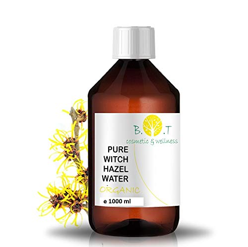 Hidrolato Agua Floral Puro de Hamamelis Olmo Escoc茅s Ecol贸gico 1000 ml, Sin alcohol.