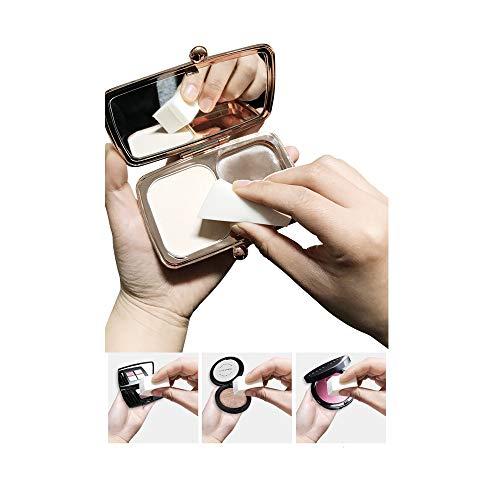 Esponjas para Maquillaje, 80 piezas de cuñas de maquillaje, Esponjas para Decoración de Uñas, para Aplicar Maquillaje Facial, Polvos, Herramientas de Belleza, Crema y Colorete, Aplicar Maquillaje