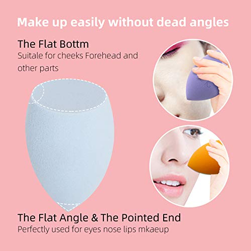 dolovemk 1pcs/pack – Esponja suave para maquillaje Fundación Esponja Powder Puff belleza huevo, altura de 7,5 cm, 12 g de peso (sin látex) azul