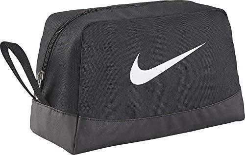 Nike Club Team Swoosh Toiletry Bag Bolsa de aseo, 27 cm, Negro (White)