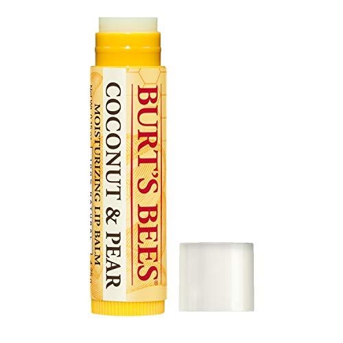 Burt's Bees Bálsamo labial hidratante de coco y pera, 1.5 onzas