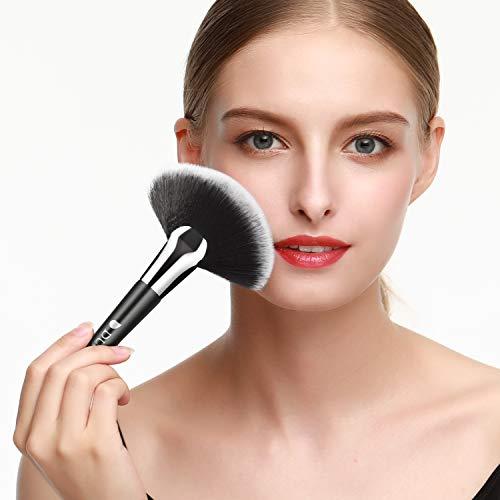 DUcare Juego de 32 brochas de maquillaje profesional de alta calidad sintéticas Kabuki para base de maquillaje, colorete, correctores, sombras de ojos