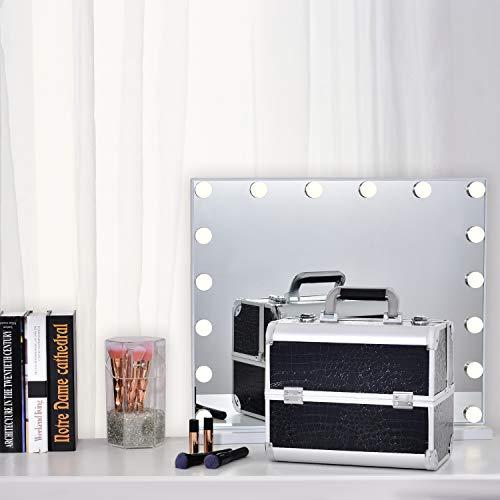 Maletín de Maquillaje Profesional Neceser de Maquillaje Organizador Estuche Maquillaje Organizador Esmaltes de Uñas Joyero Maletín Manicura Caja Maquillaje Regalos para Mujer