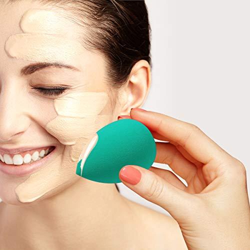 ARVOK Makeup Blender Esponjas de maquillaje de belleza, 6 piezas de esponjas de base sin látex para cosméticos líquidos/en polvo/en crema. con estuche de viaje transparente de 6 piezas (Opción 3)