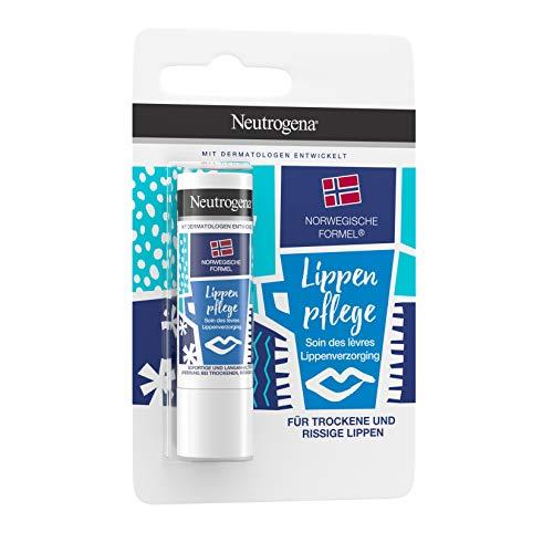 Neutrogena Fórmula noruega, bálsamo labial con SPF 4, labios secos y quebradizos, 4,8 g