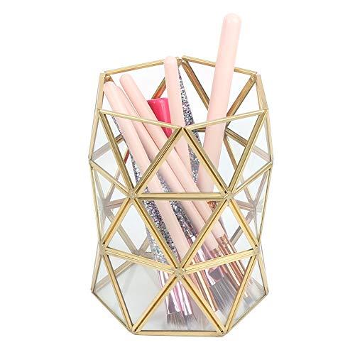 Soportes Para Brochas De Maquillaje Organizador De Soporte De Maquillaje Estuche Para LáPices Caja De Almacenamiento De Paletas Pantalla De Escritorio