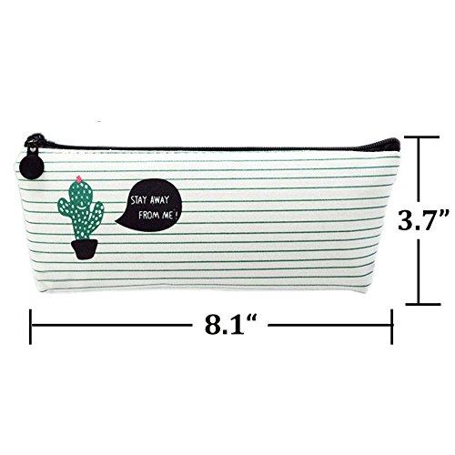 Cactus Pastoral Estuche para lápices de viaje, bolsa de maquillaje, vendaje, lona, juego de 3