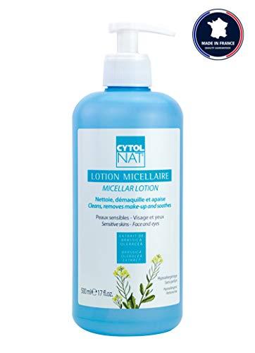 CYTOLNAT® Loción Micelar 500 ml - Limpia – Desmaquilla y calma – Pieles sensibles – Rostros y ojos - Hipoalergénica – Sin perfume