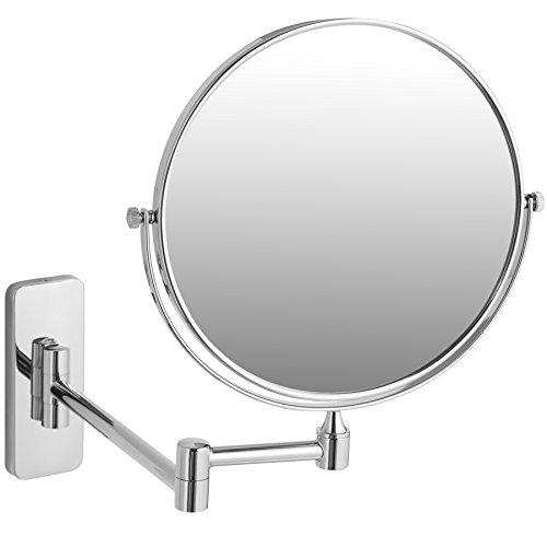 TecTake Espejo de Maquillaje Espejo para baño | Orientable 360 Maquillaje y Afeitado - Varios Modelos (7 aumentos | no. 402643)
