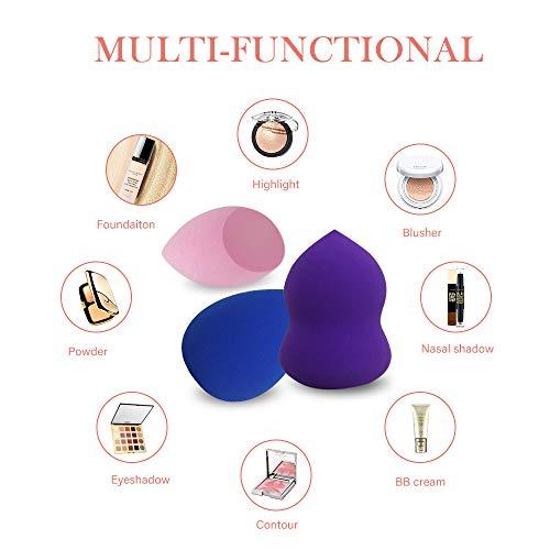 Esponja de maquillaje (6 esponjas para mezclar maquillaje + 2 soportes para esponjas)