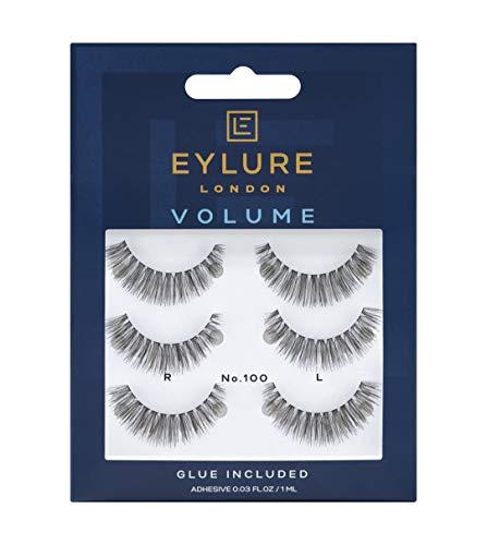Eylure Volume - Lote de 3 pares de pestañas postizas nº 100