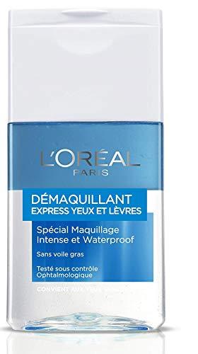 L'Oréal Paris Desmaquillante Suave para Ojos y Labios resistente al agua, 125 ml