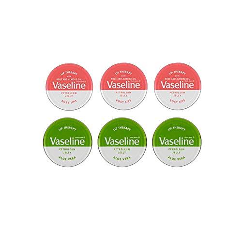 Vaselina Bálsamo Labial Jalea de Aceite 20g - 3x Labios Rosados y 3x Aloe Vera