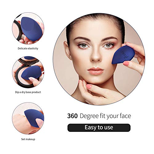 Esponja maquillaje,de rostro cobertura total,Makeup Blender Beauty Esponjas Para Maquillaje Facial Caja de Regalo(con estuche de viaje)(Con caja de regalo) (B)