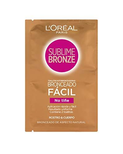 L'Oreal Paris Sublime Bronze - Toallitas Autobronceadoras para Rostro y Cuerpo, 2 x 5.6 ml