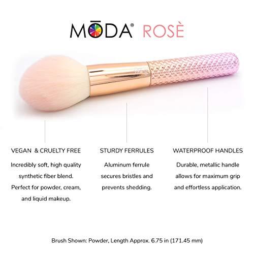 Moda Royal & Langnickel - Juego de 5 brochas de maquillaje de cara completa con bolsa, incluye polvo redondo, Kabuki angular, sombreador angular y pinceles para difuminar, rosa degradado, MSET-RCK4