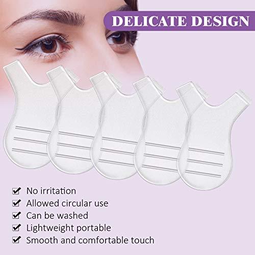 48 Piezas Cepillos de Pestañas en Forma de Y Cepillo de Levantar Pestañas Herramienta de Belleza Maquillaje para Cepillo de Injerto de Pestañas Limpieza de Extensiones de Pestañas