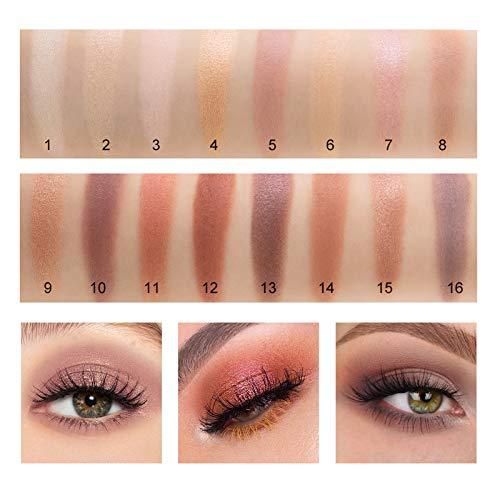 Onlyoily Paleta De Sombras De Ojos Profesionales - Paleta Maquillaje - Altamente Pigmentados 16 Colores Brillantes y Mate