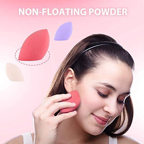 Esponja Maquillaje,3+1 Piezas Set de Esponjas de Maquillaje,Makeup Blender Beauty para Base de Maquillaje,Juego de maquillaje de belleza de licuadora de esponja de maquillaje profesional