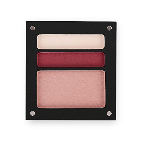 Jolly Dim Makeup - Set de maquillaje de noche para ojos y mejillas: 2 sombras de ojos + 1 colorete. Acabado mate. Paleta de maquillaje para rostro y ojos