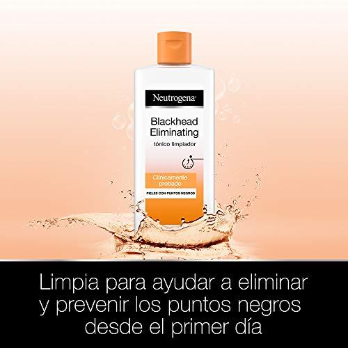 Neutrogena Blackhead Eliminating Tónico Limpiador con Ácido Salicílico Purificante, Pieles con Puntos Negros, 200 ml