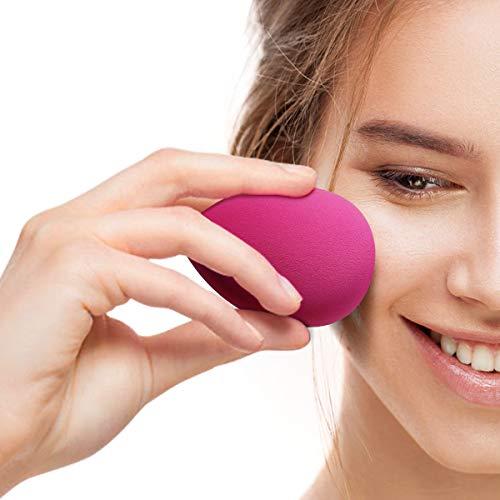 Maquillaje Esponjas, Belicoo Beauty Blender, 6Pcs Látex Gratis Fundación Esponjas Perfecto para Líquido/Polvo/Crema Productos cosméticos. Multicolor Esponjas con 6 Unids Transparente Viajar Caso