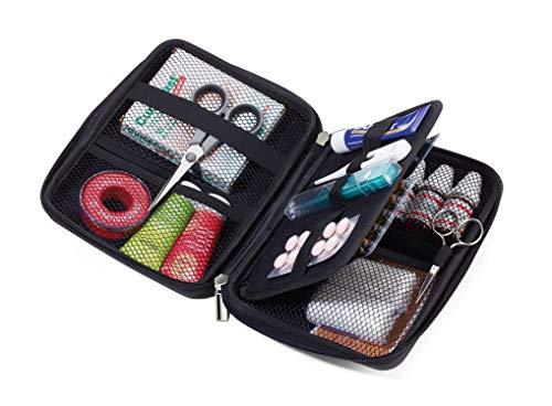 TROIKA CBO11/BK Negro Cuero, Terciopelo estuche de maquillaje y de manicura - Estuche de belleza (160 mm, 220 mm, 50 mm)