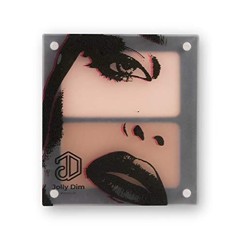 Jolly Dim Makeup - Set contorno e iluminador. Iluminador y polvos bronceadores Paleta de maquillaje para rostro Perfecto para llevar contigo