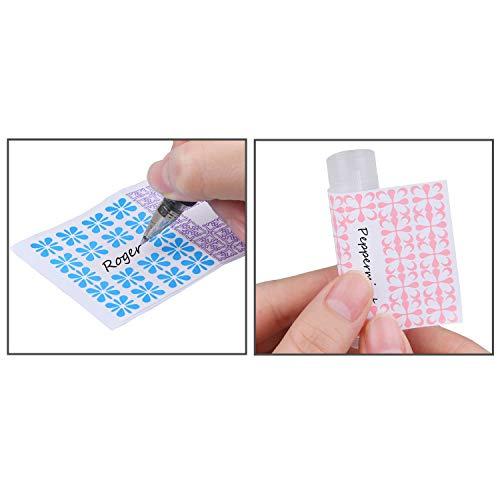 Tubos para envasar bálsamo labial - Paquete 50 Tubos - Hágalo usted mismo - 5,5 ml - Incluye 50 Adhesivos Escribibles (10x5 colores) y 50 Adhesivos de Bálsamo Labial Impresos