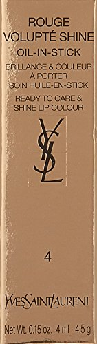 Yves Saint Laurent Rouge Volupté Shine04-Rouge In Danger Pintalabios - 4 gr