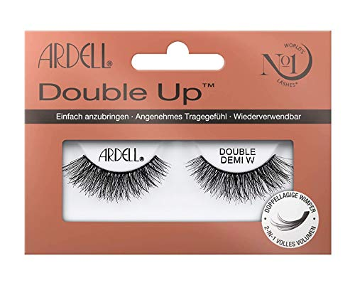 Pestañas postizas Ardell Double Demi Wispies, dobles, color negro