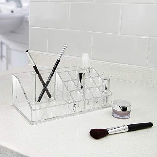ZEEREE Organizador de Maquillaje, Acrílica Transparente Caja de Almacenamiento de Acrílico Estante de Maquillajes Organizador de Cosméticos