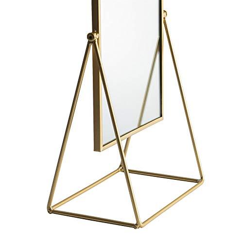 Harbour Housewares Tocador Espejo de baño - Independientes Mesa de Maquillaje cosmético del Espejo - 22cm - Oro