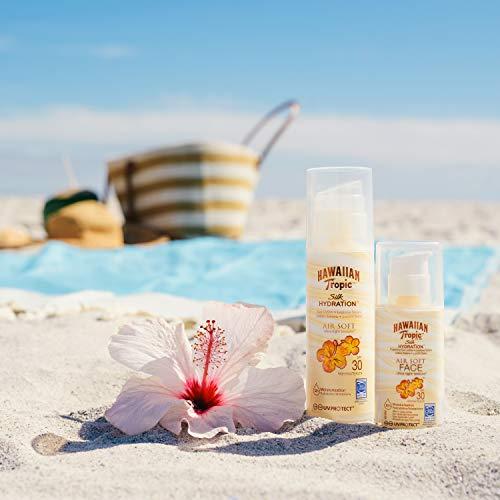 HAWAIIAN Tropic Silk Hydration Air Soft Face SPF 30 - Loción Solar Protectora para el Rostro, Crema Hidratante Facial con Protección, 50 ml, 1 Unidad