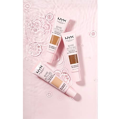 NYX Professional Makeup Base de Maquillaje Velo de Color Bare With Me, Extractos Hidratantes de Aloe y Pepino, Inspirada en el Cuidado de la Piel, Cobertura Ligera, Tono Natural Soft Beige
