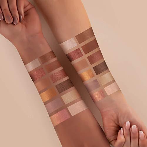 Paleta de sombras de ojos mate, brillante, tonos nude – Maquillaje barroco romántico – Incluye 12 colores románticos nude & oro rosa – Vegano profesional