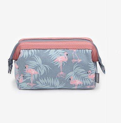 Rmeet Bolsa para Cosméticos,Portátil Bolsas de Maquillaje de Viaje Impermeable Flamingo Neceser de Maquillajepara Mujeres niñas