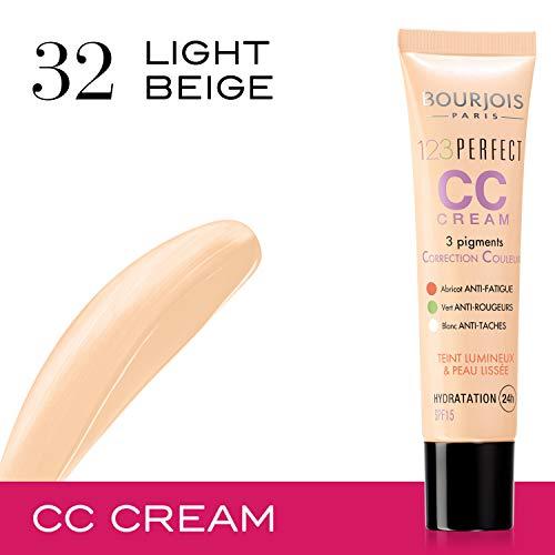 Bourjois - 123 Perfect CC Cream, crema correctora con color, tono light beige