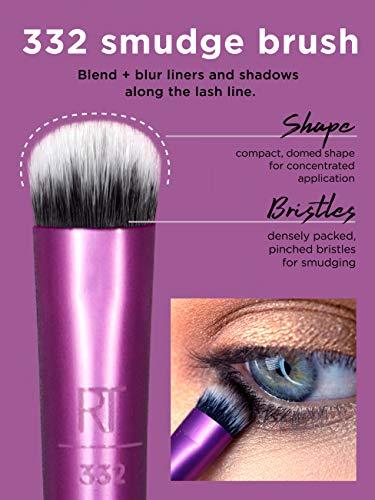 Real Techniques Everyday Eye Essentials - Juego de brochas para sombra de ojos (8 piezas)