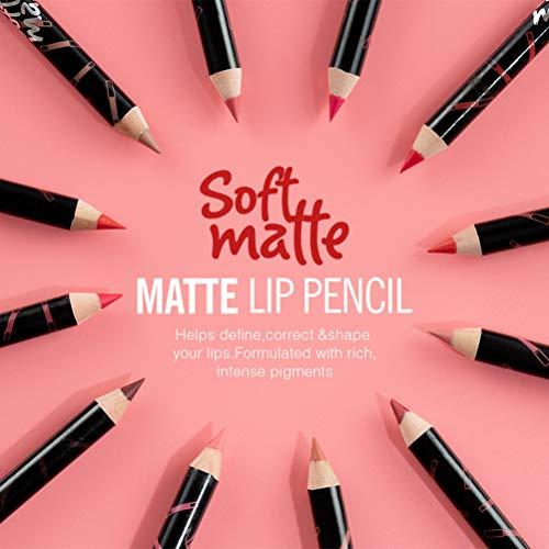 Lápiz labial mate impermeable Frcolor delineador de labios de larga duración 12 Piezas