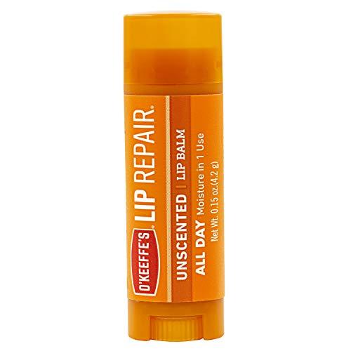 O'Keeffe's Lip Repair - Bálsamo labial reparador sin aroma - Bálsamo en barra para labios secos y agrietados, pack de 2 unidades