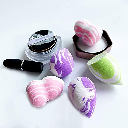 Esponja de Maquillaje 3 Piezas Set de Esponjas de Maquillaje, Profesional para la Base Multicolor sin Látex Uso Húmedo y Seco