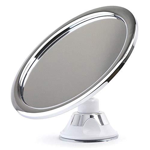 ZREAL Fogless 1213/5000 - Espejo de maquillaje con soporte de ventosa (rotación de 360º)