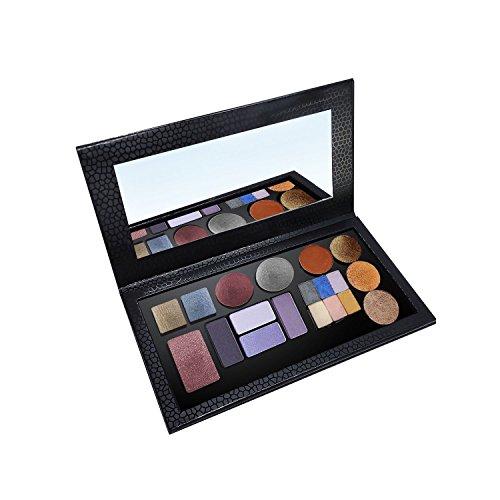 Allwon Paleta magnética Paleta de maquillaje de sombra de ojos vacía con espejo para Eyeshadow Lipstick Blush Powder (Negro)