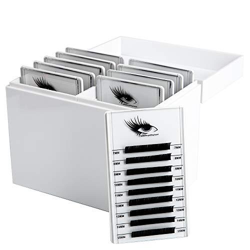 Caja de almacenamiento de pestañas acrílicas de 10 capas, organizador de maquillaje, pestañas postizas, soporte para paletas, visualización de injertos, pestañas para ojos, extensión con 10 paletas