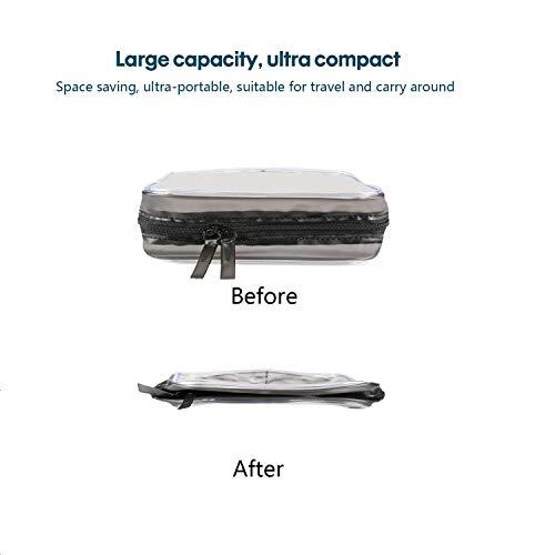 3 Piezas Bolsa de Aseo Transparente Neceser PVC Impermeable Mujer Bolsa de Cosmético Organizador de Viaje , Tres tallas