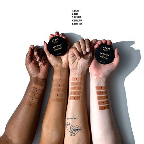 NYX Professional Makeup Polvos bronceadores Matte Bronzer, Polvos compactos, Sin brillos, Fórmula vegana, Tono: Medium