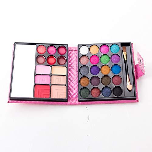 JasCherry Paleta de Sombras de Ojos 32 Colores de Estuche de Maquillaje Cosmético - Incluye Rubor y Polvos Compactos y Brillo Labios #2